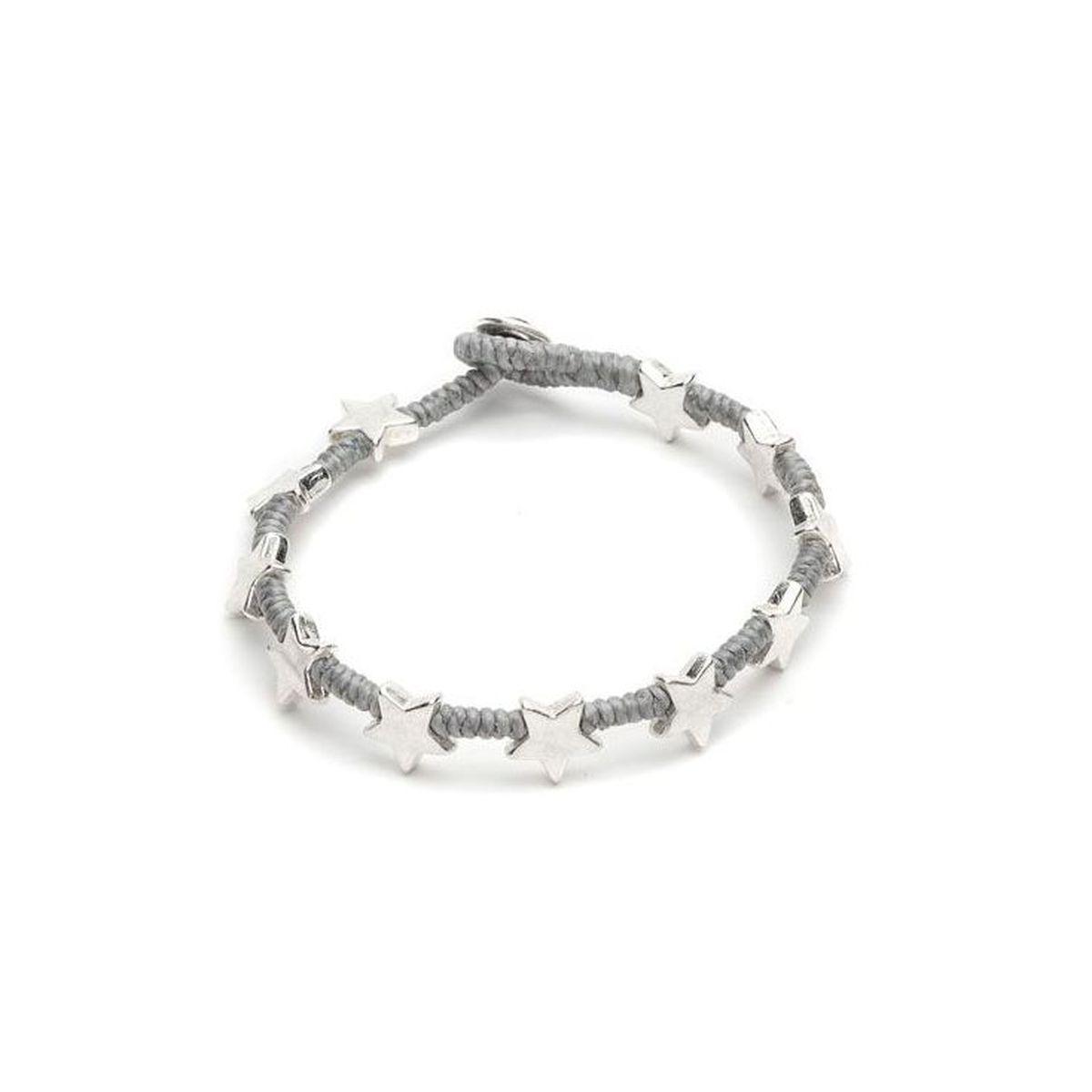 New Flat star bracelet Grey VestoPazzo