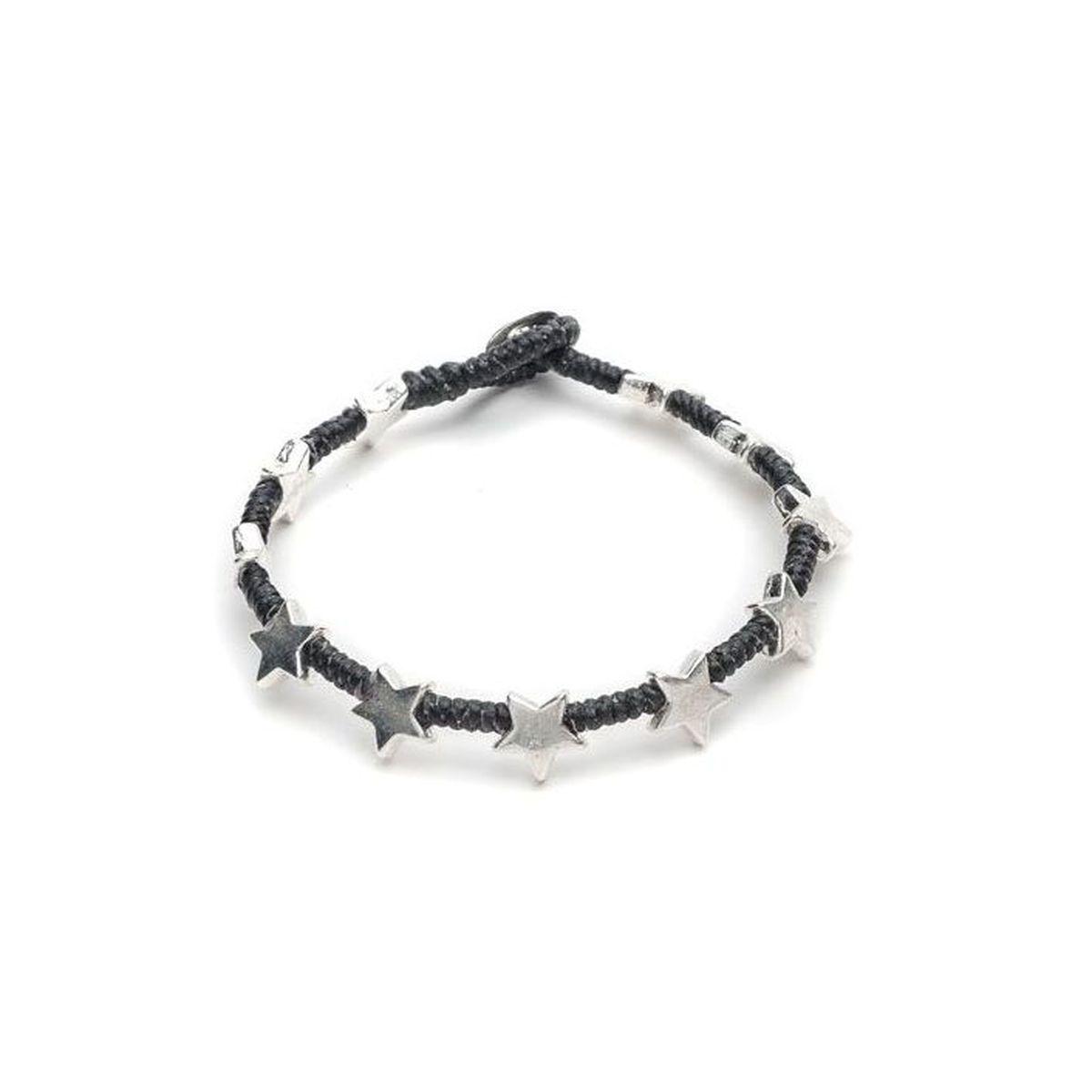New Flat star bracelet Black VestoPazzo