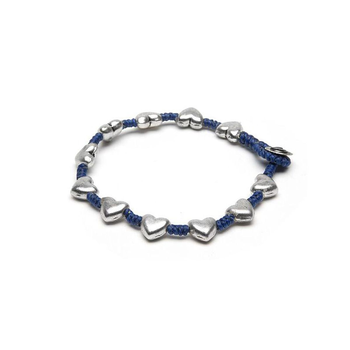 Rounded hearts, bracelet Blue VestoPazzo