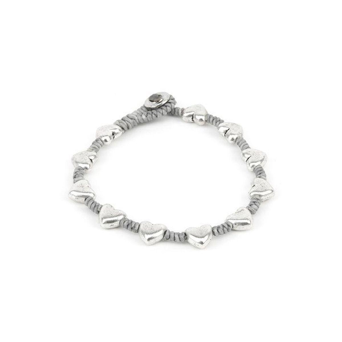 Rounded hearts, bracelet Grey VestoPazzo