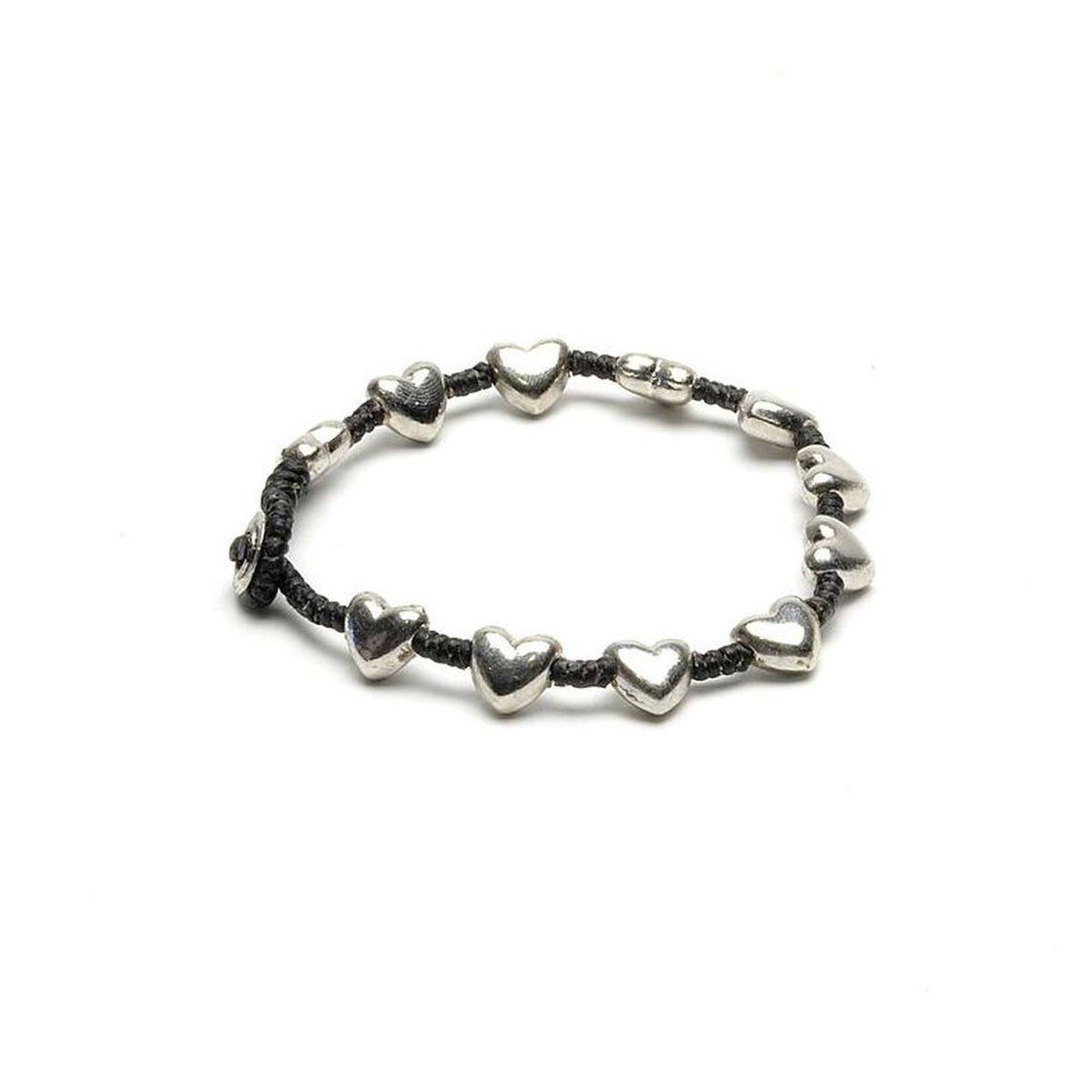 Rounded hearts, bracelet Black VestoPazzo