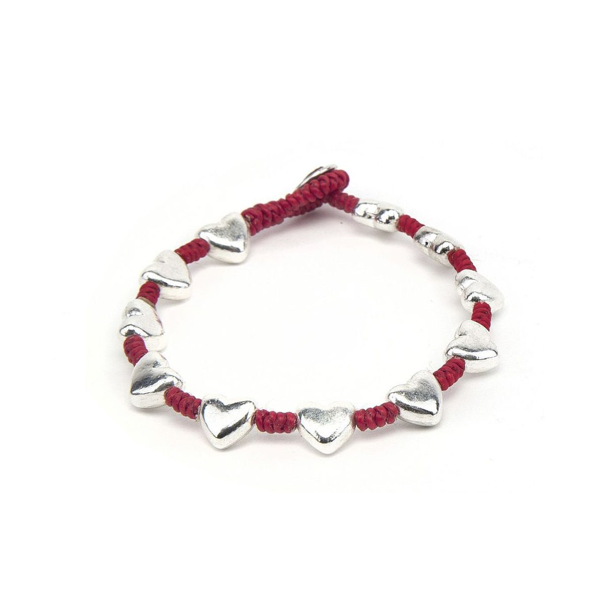 Rounded hearts, bracelet Red VestoPazzo