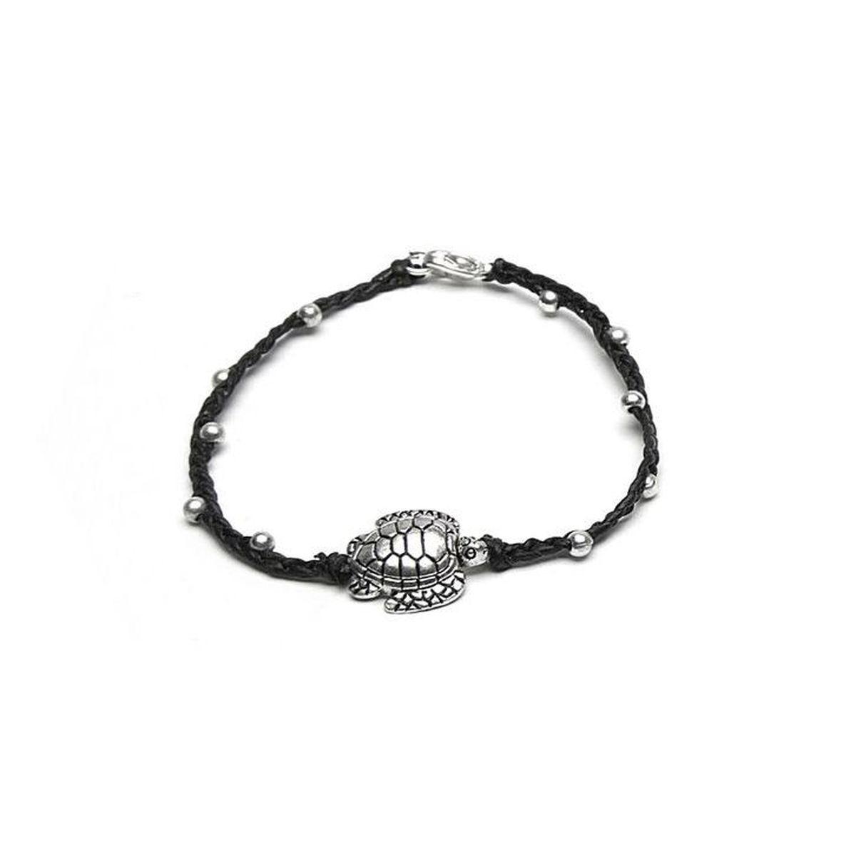 Engraved turtle, Bracelet Black VestoPazzo