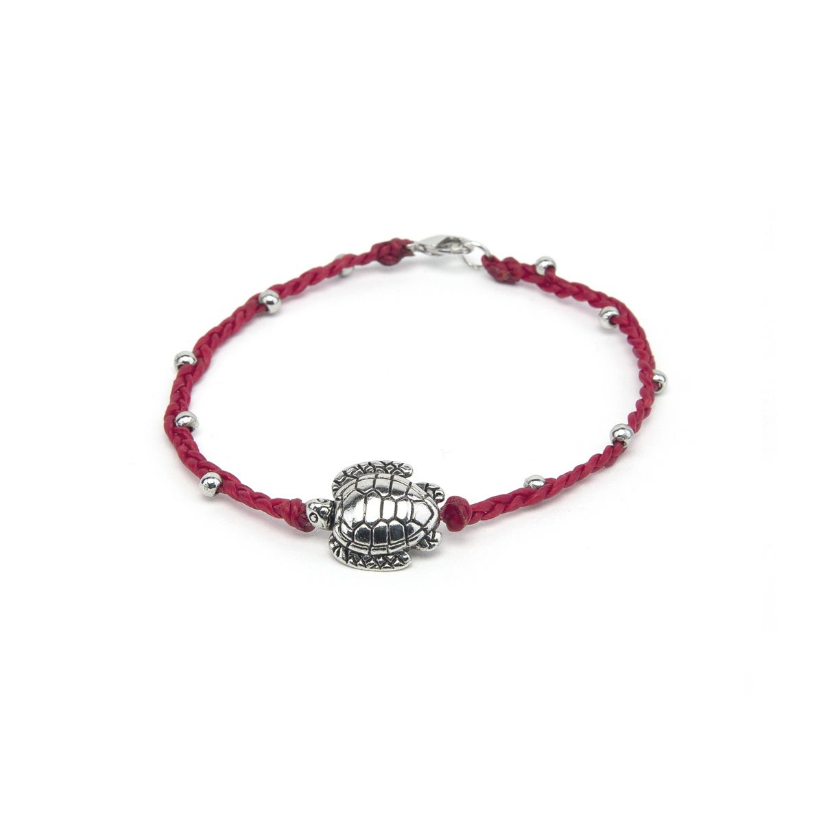 Engraved turtle, Bracelet Red VestoPazzo