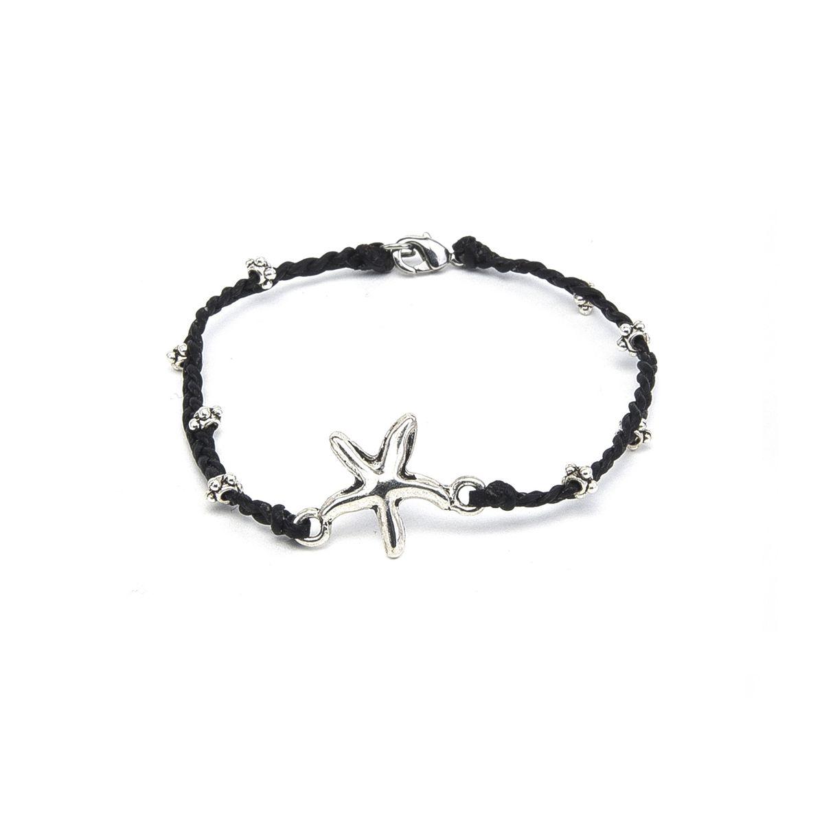 Starfish detail bracelet Black VestoPazzo