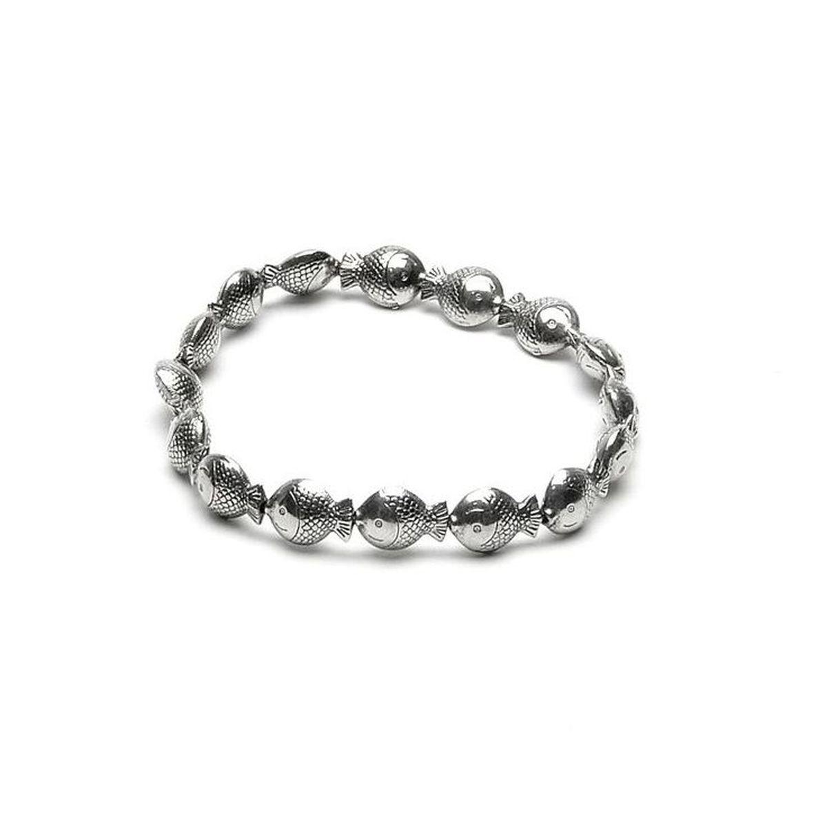 Fish, elastic bracelet Silver VestoPazzo