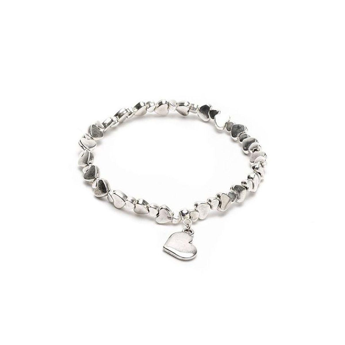 Heart pendant bracelet Silver VestoPazzo