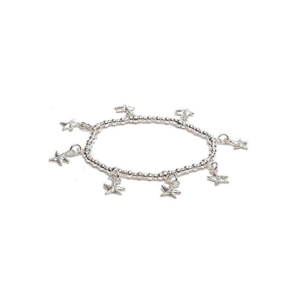 Pendants Starfish, elastic bracelet Silver VestoPazzo
