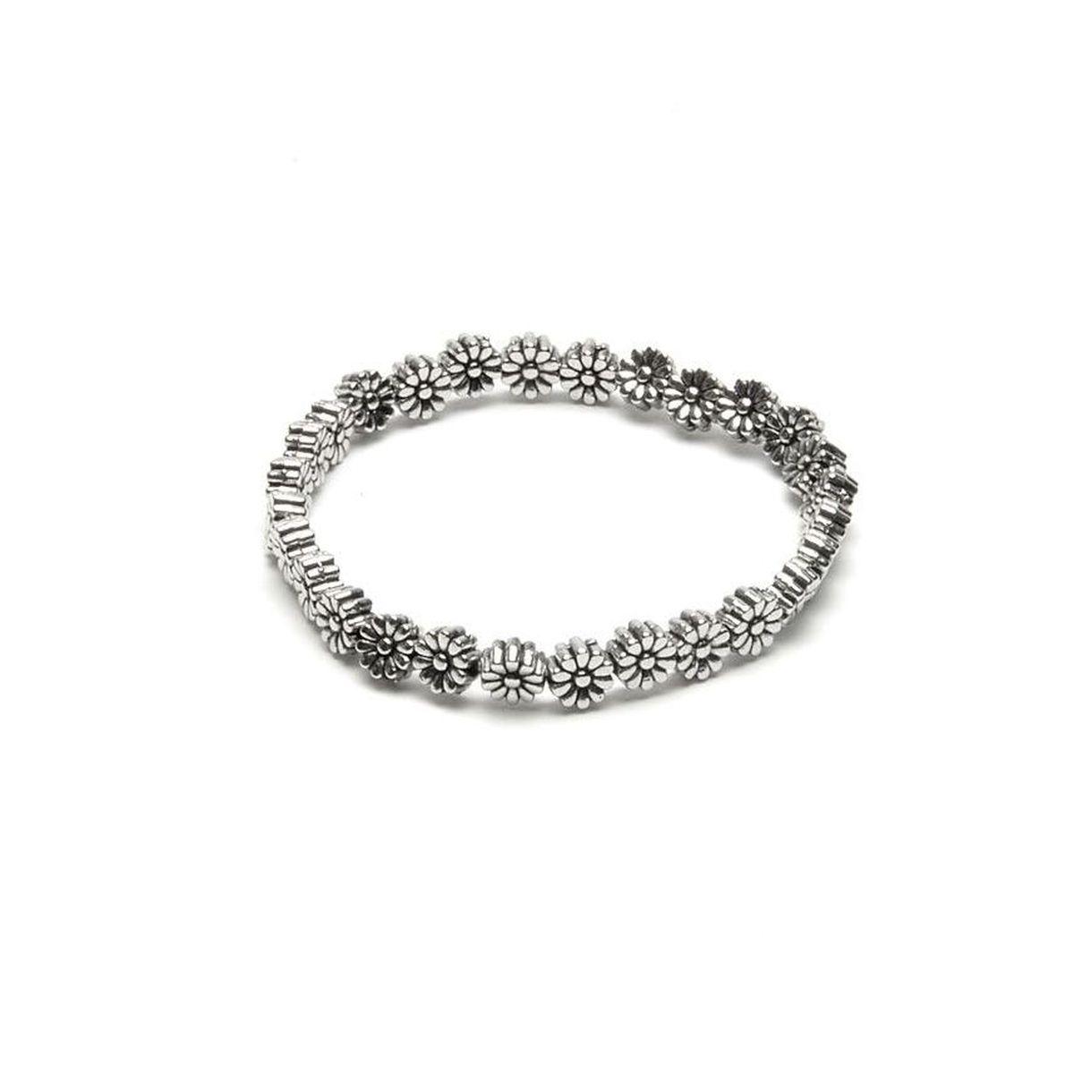 Sunflowers, elastic bracelet Silver VestoPazzo