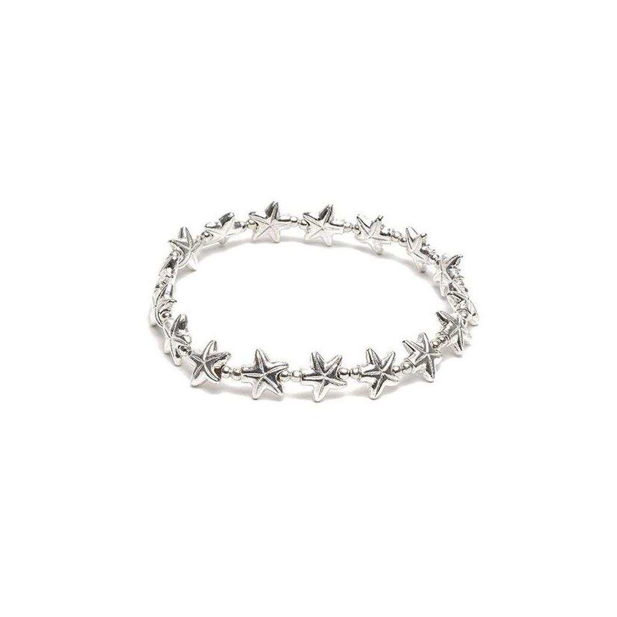 Starfish elastic bracelet Silver VestoPazzo