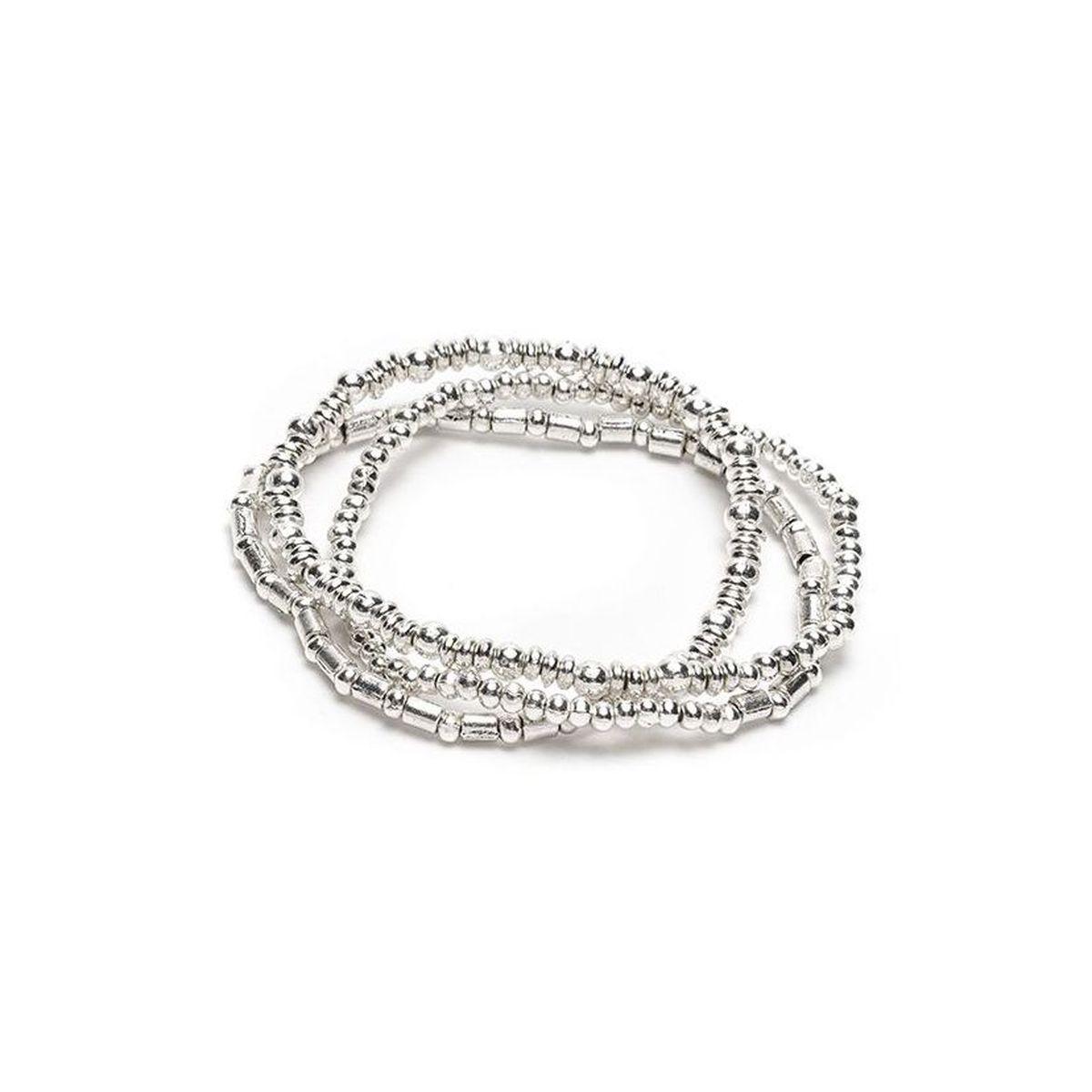 3 turns Elastic bracelet Silver VestoPazzo