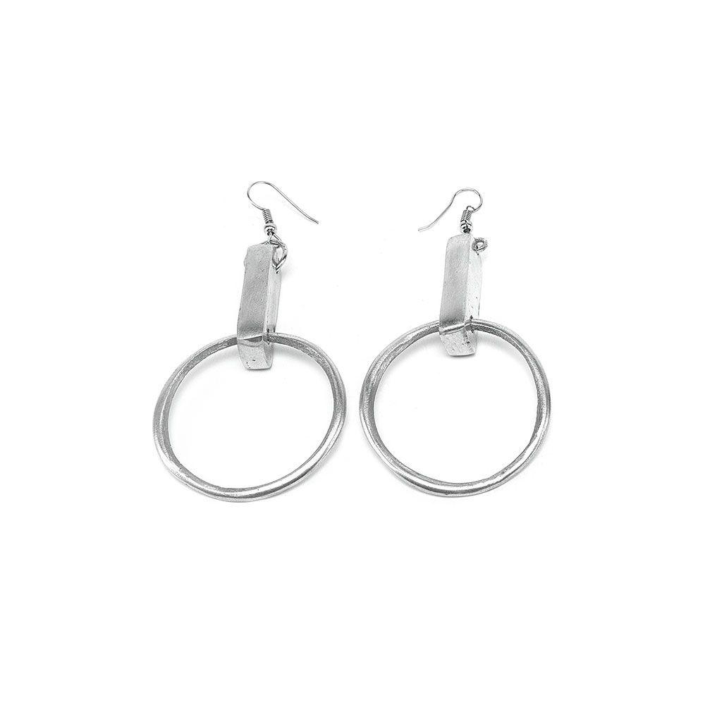 Bar and circle earrings Alluminium VestoPazzo