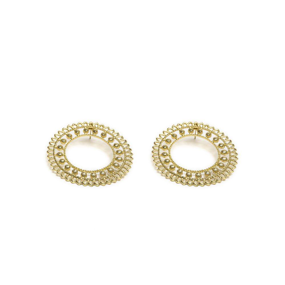 Dubai, circle earrings Gold VestoPazzo