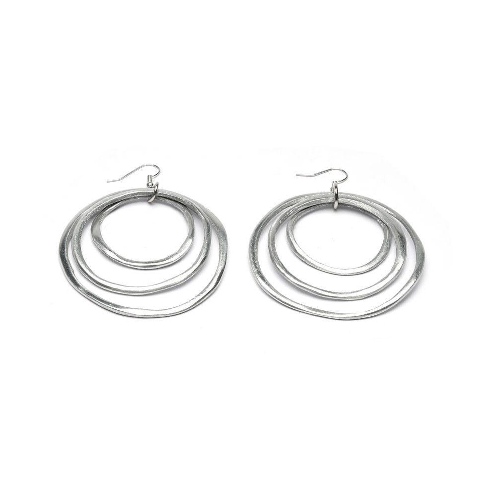 3 fine turns earrings Alluminium VestoPazzo