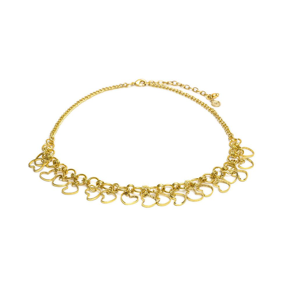 Hollow hearts choker necklace Gold VestoPazzo