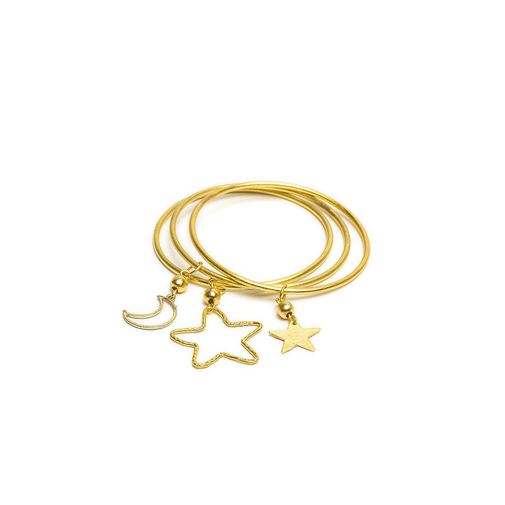 3 pcs nights bracelet Gold VestoPazzo