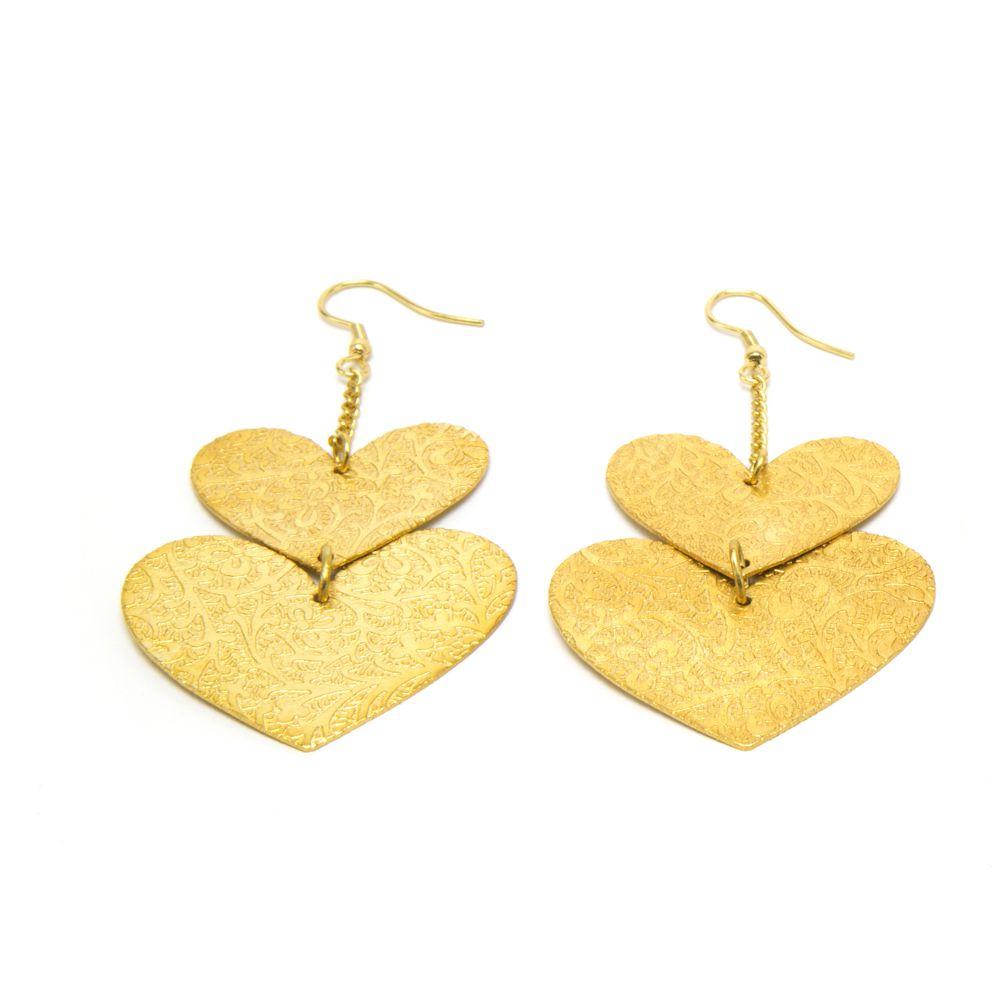 Hearts design earrings Gold VestoPazzo