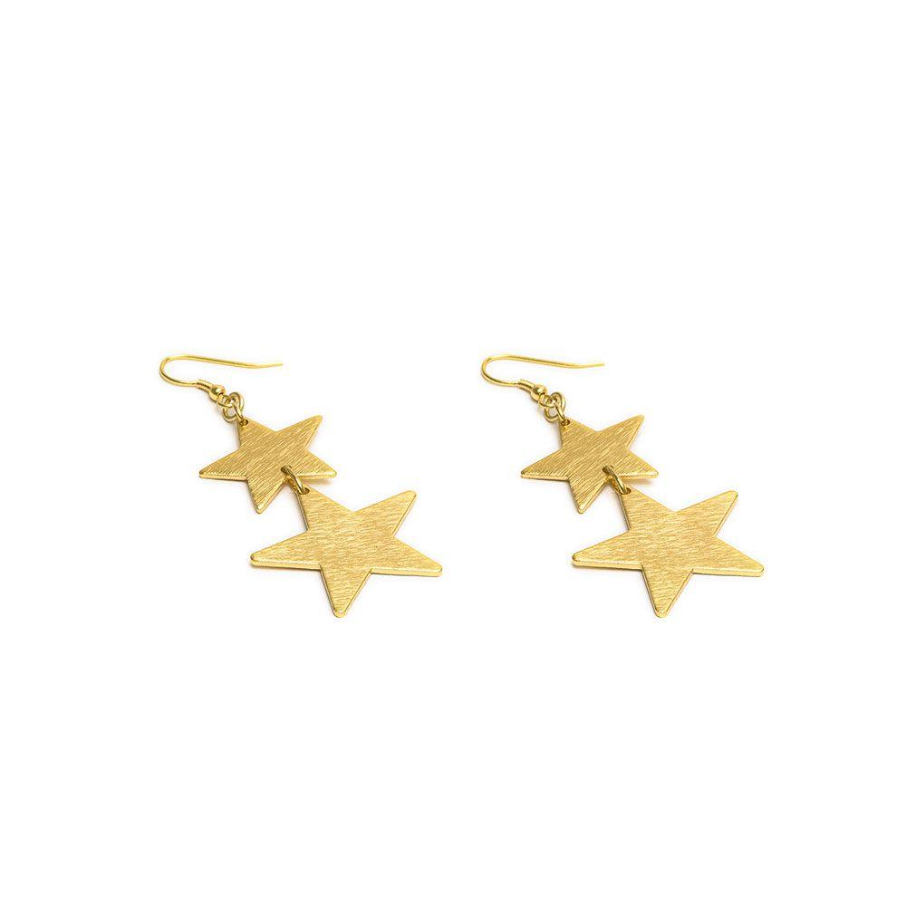 Two Stars, pendant earrings Gold VestoPazzo