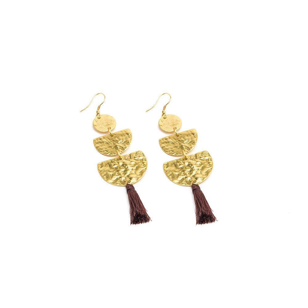 Moon tassel earrings Gold VestoPazzo
