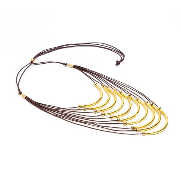 9 small bars, necklace Gold VestoPazzo