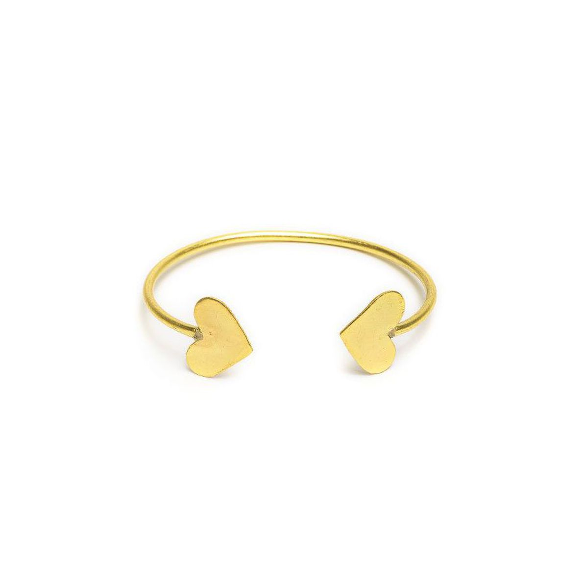 Regular hearts rigid bracelet Gold VestoPazzo