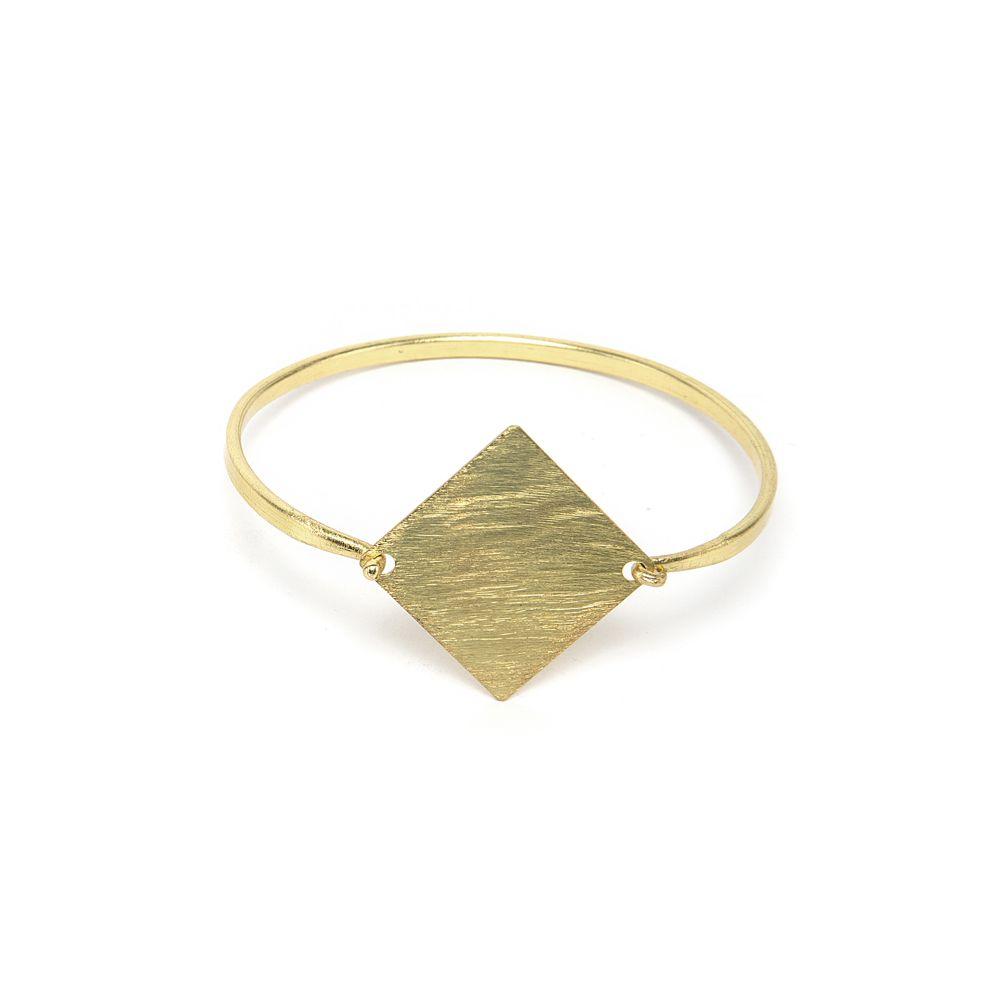 Rigid rhombus bracelet Gold VestoPazzo