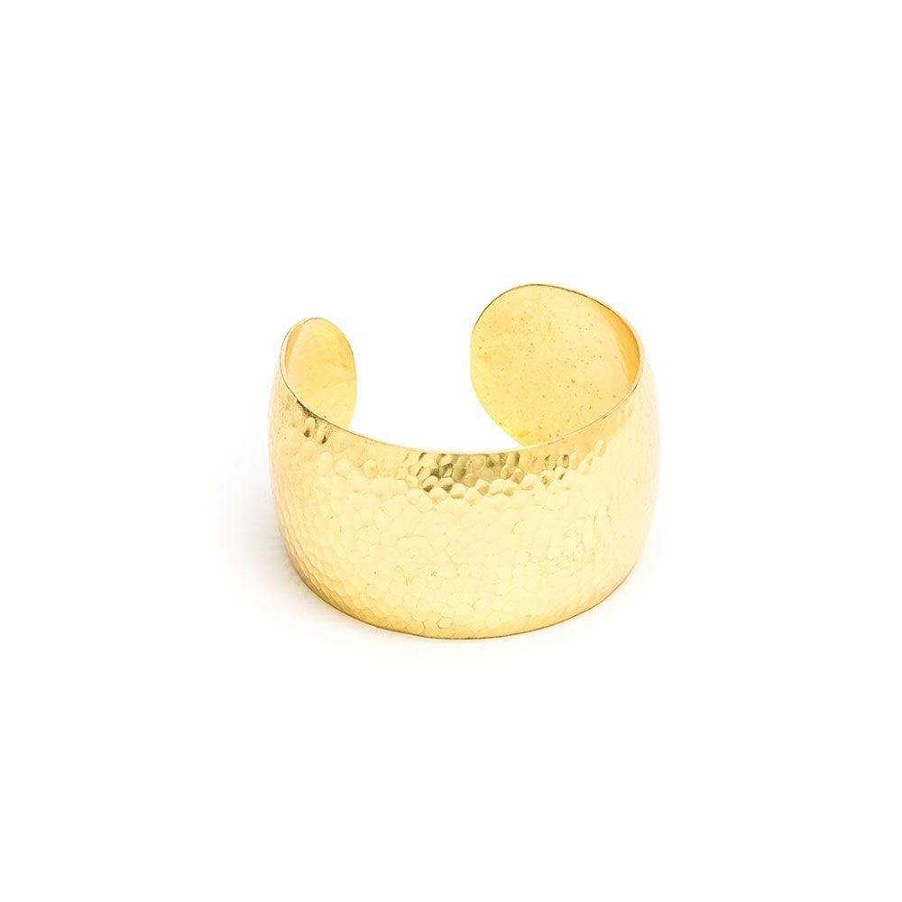 Rounded cuff bracelet Gold VestoPazzo