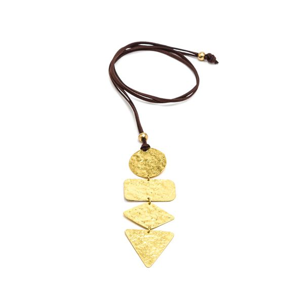 Irregular pendants necklace Gold VestoPazzo