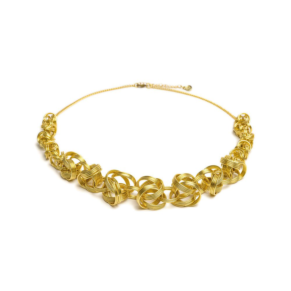 Big skein choker necklace Gold VestoPazzo