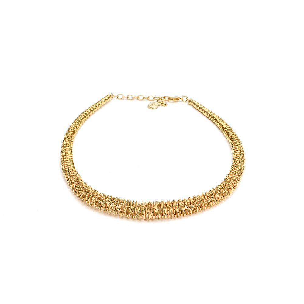 Flexible choker necklace Gold VestoPazzo