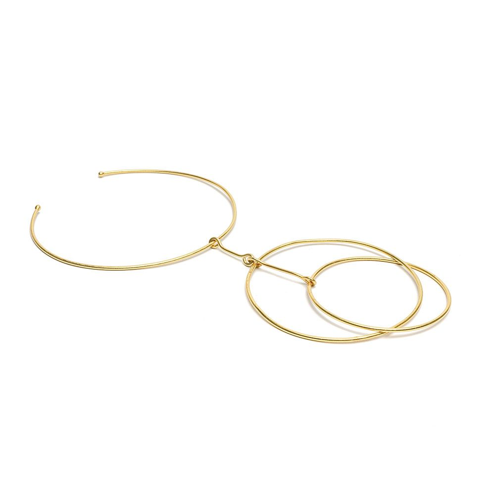 Hula Hop necklace Gold VestoPazzo