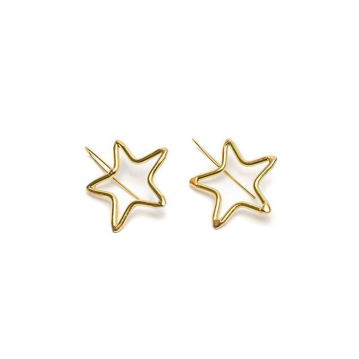 Threadable star earrings Gold VestoPazzo