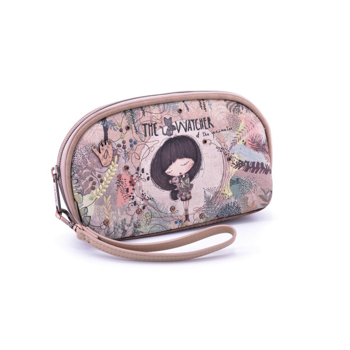 Clutch bag Anekke AN30717-09JUC Beige BRASS Workshop