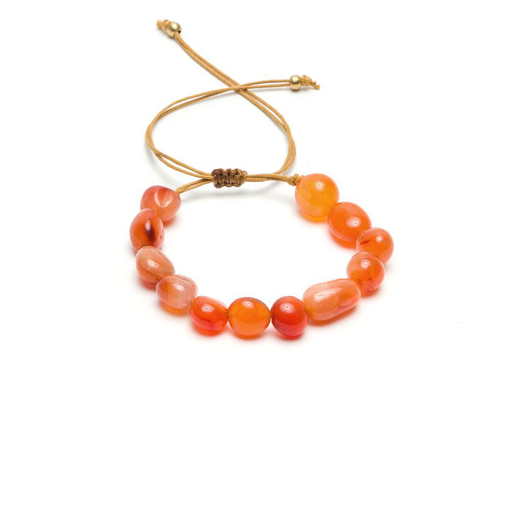 Carnelian adjustable bracelet Brown VestoPazzo