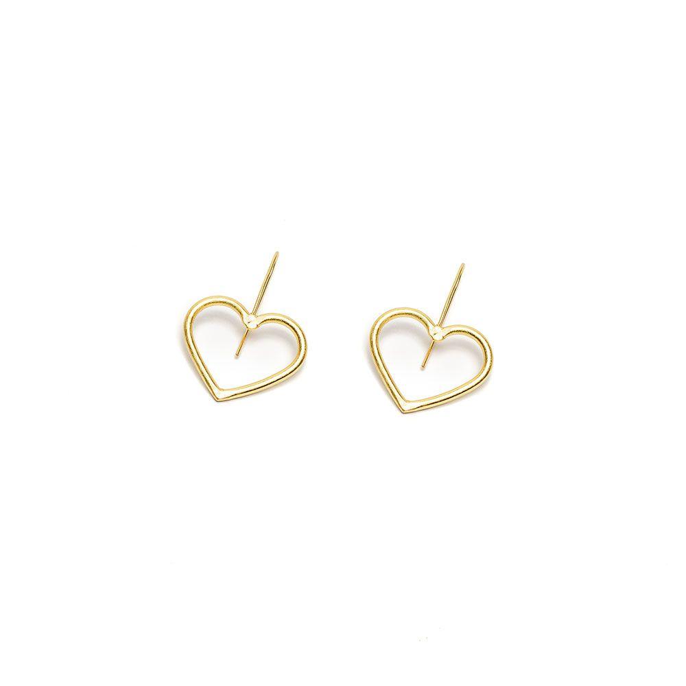 Heart earrings Gold VestoPazzo