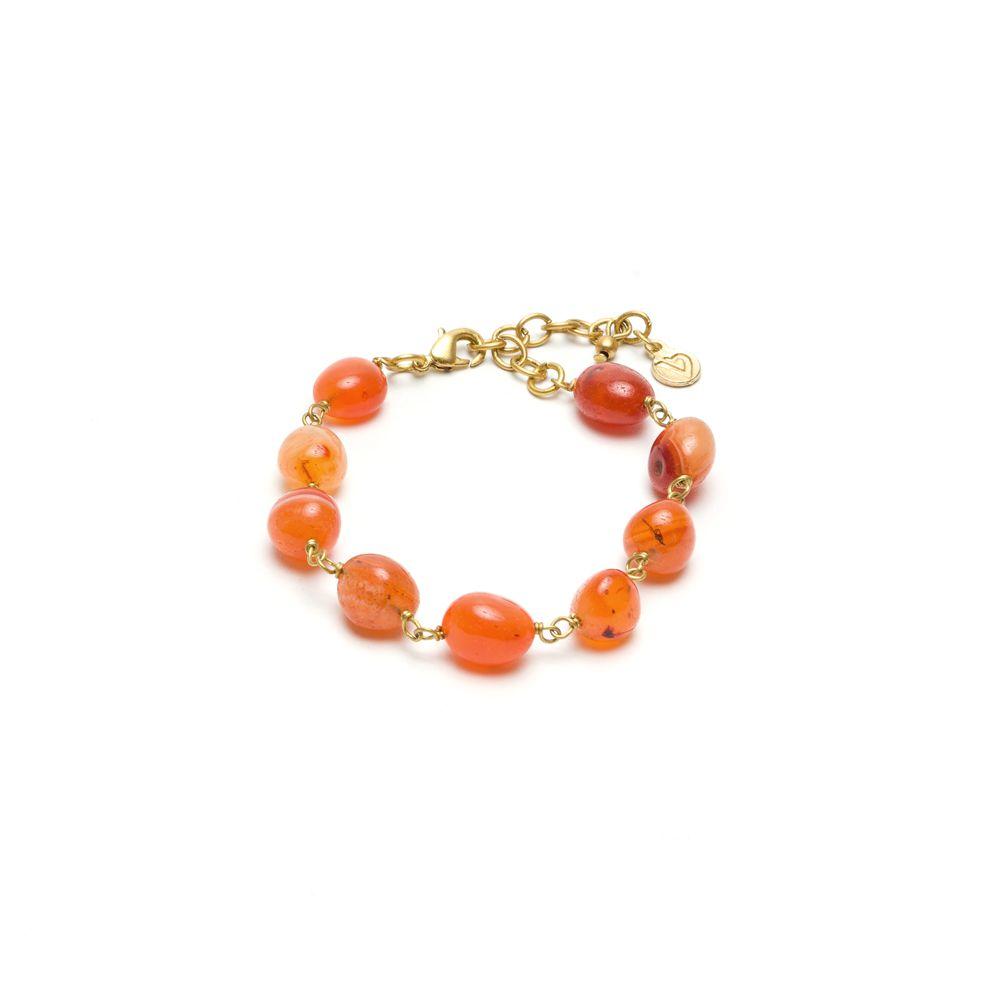 Carnelian chain bracelet Brown VestoPazzo