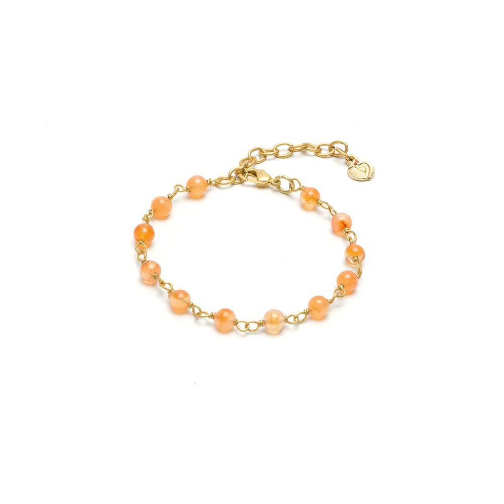 Carnelian spheres bracelet Gold VestoPazzo