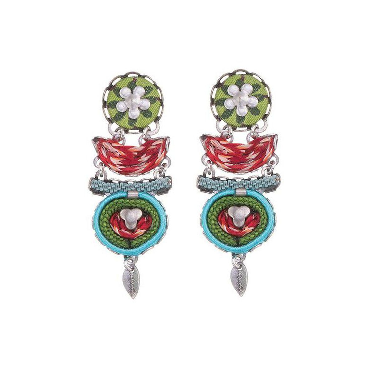 Granda, Batlan Earrings Green AyalaBar