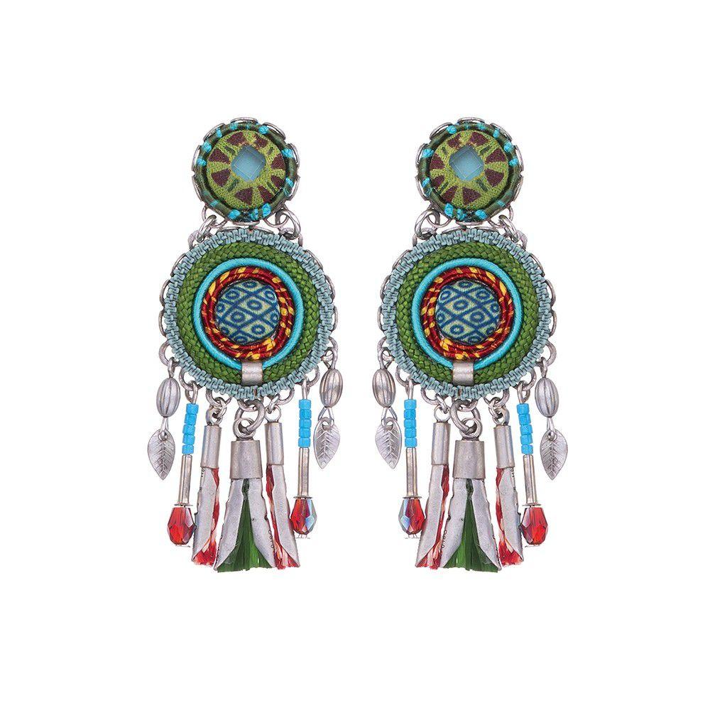 Granda, Blair earrings Green AyalaBar