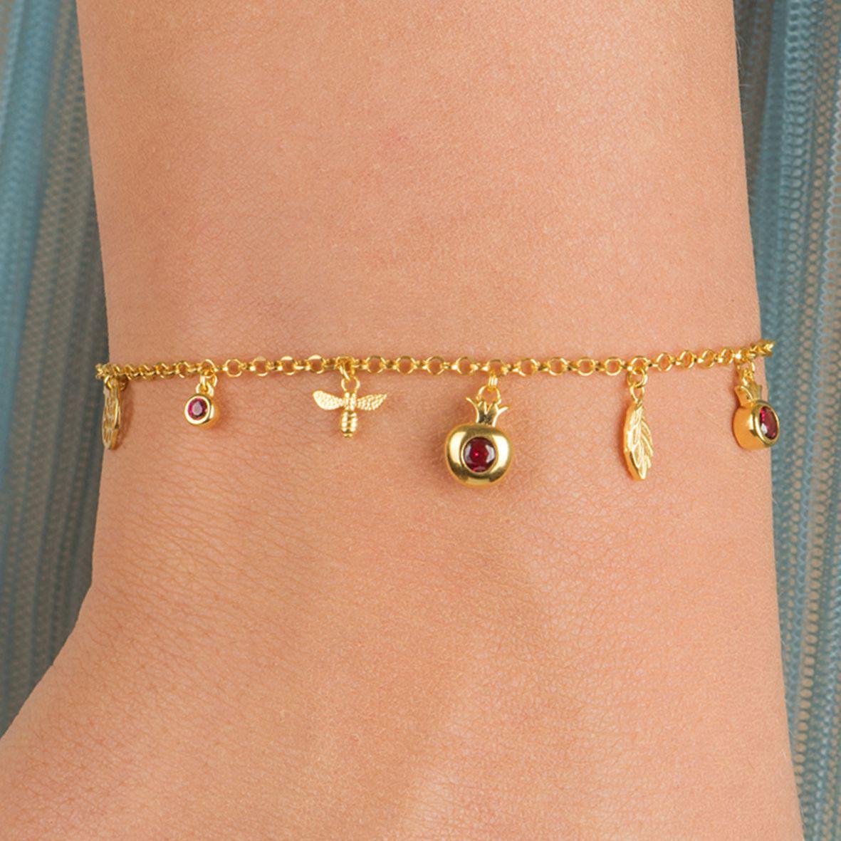 Melagrana Tree, sterling silver bracelet Rosegold Kurshuni