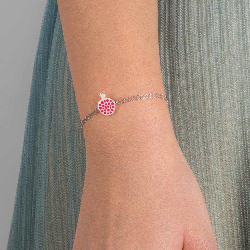 Melagrana abundance, sterling silver bracelet Silver Kurshuni