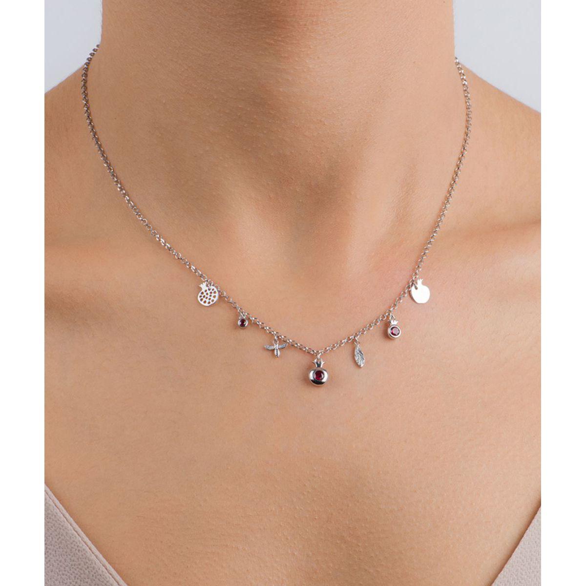 Melagrana tree, sterling silver necklace Silver Kurshuni