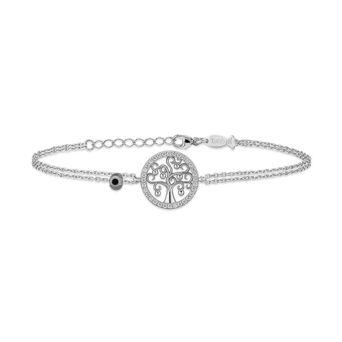 Tree of life, sterling silver bracelet Silver Kurshuni