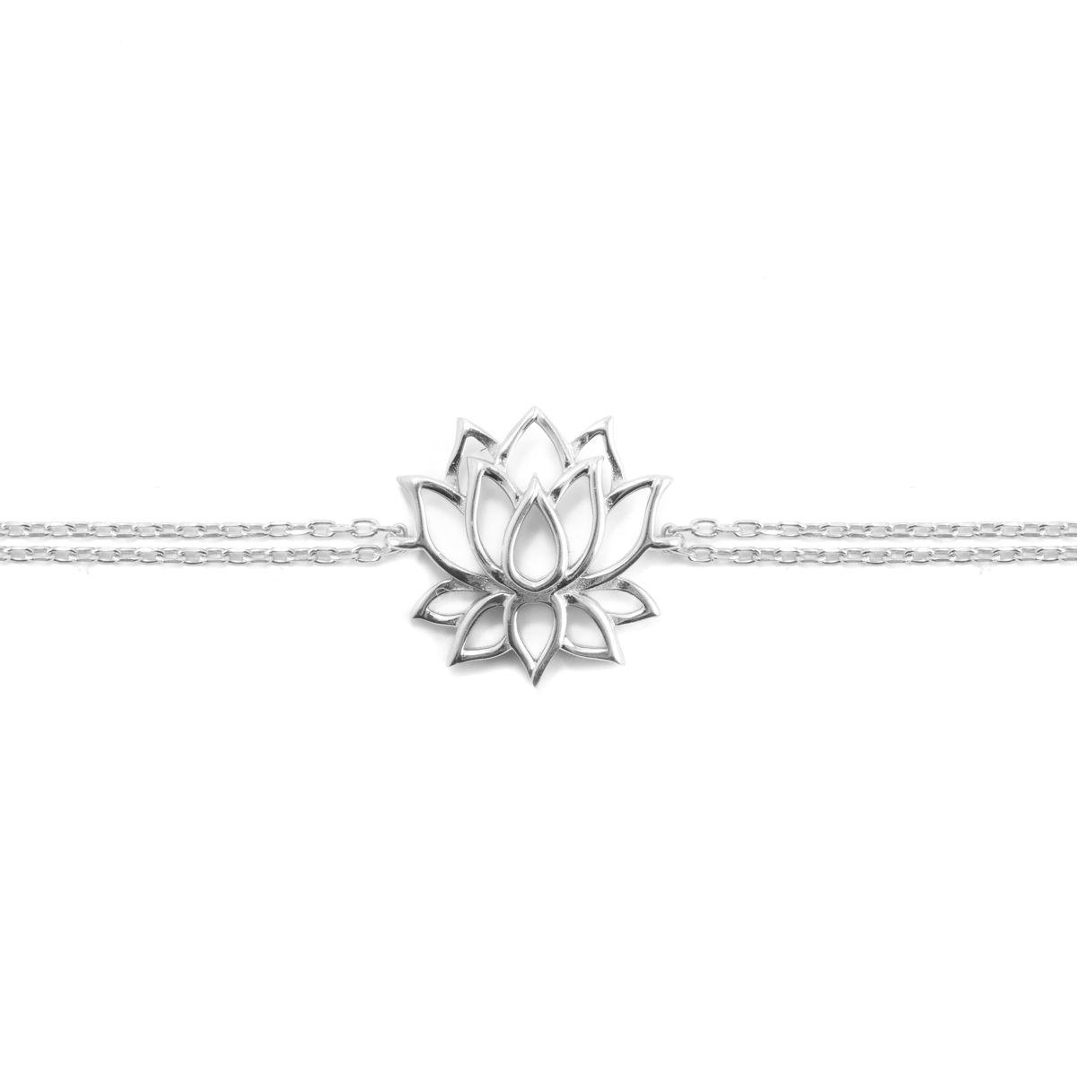 Lotus, sterling silver bracelet Silver Kurshuni