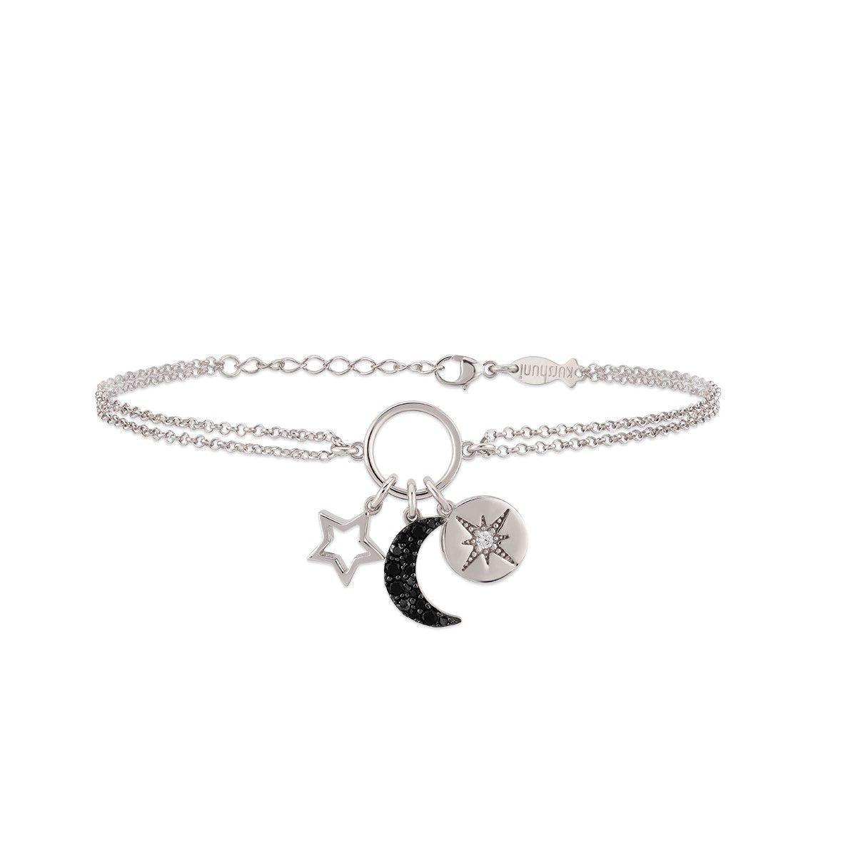 Star/Moon, sterling silver bracelet Silver Kurshuni