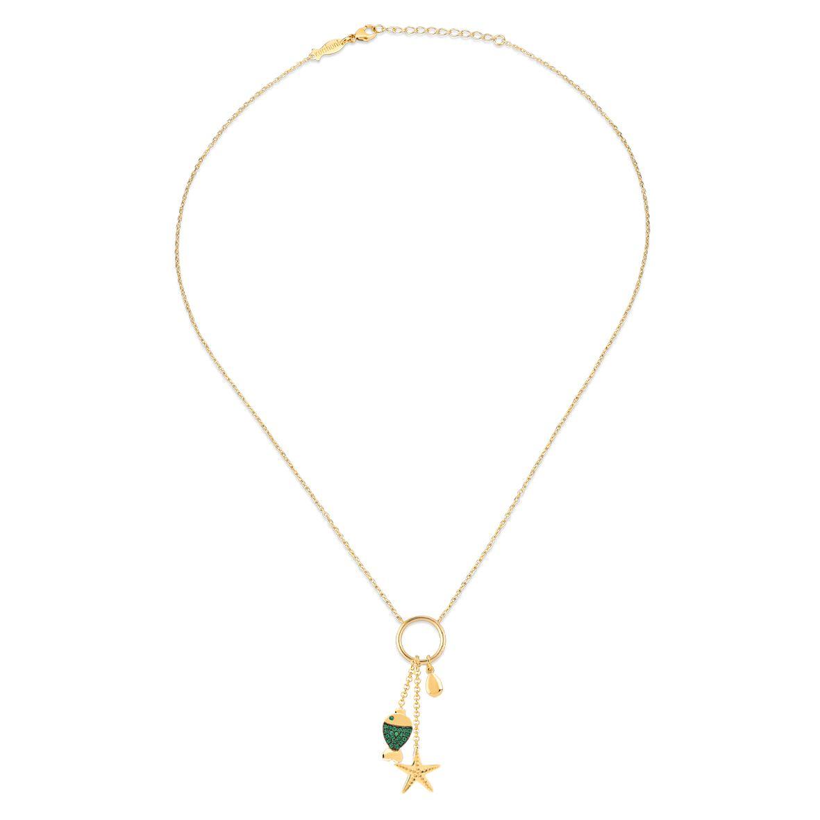 Gipsy Sea, sterling silver necklace Gold Kurshuni