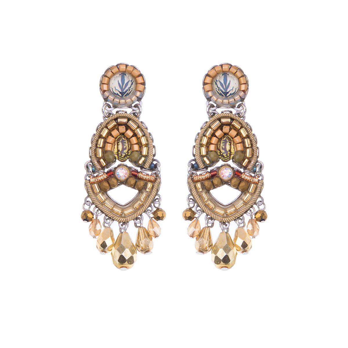 Shifting Sands, Fiord Earrings Gold AyalaBar