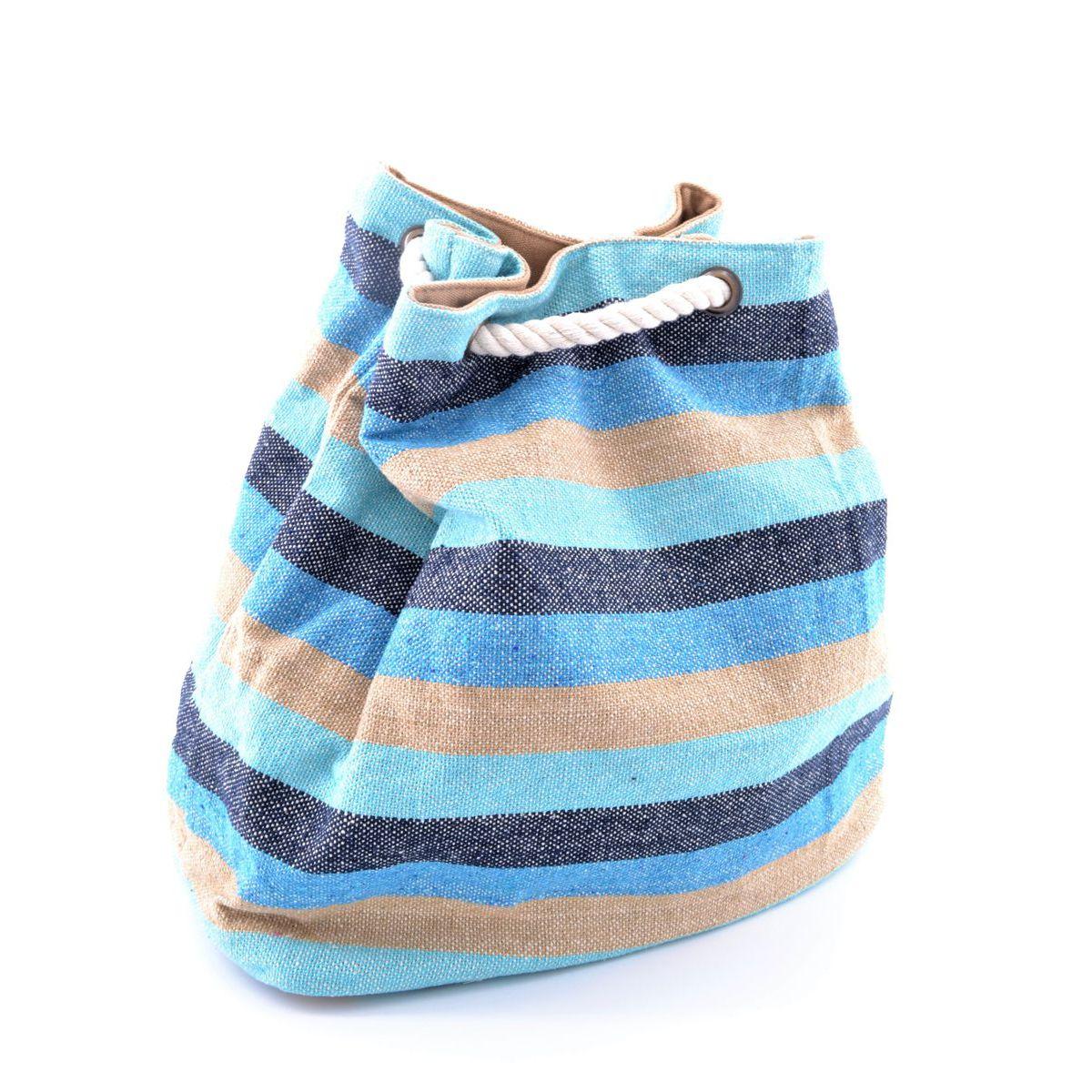 Beach backpack E19B201 Light blue VestoPazzo