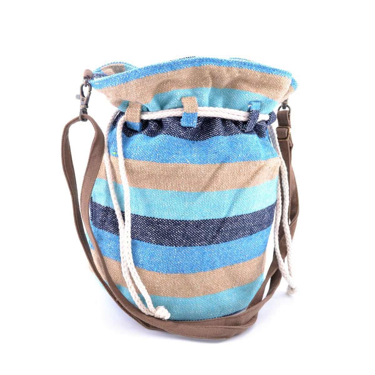 Cotton shoulder bag E19B204 Blue VestoPazzo