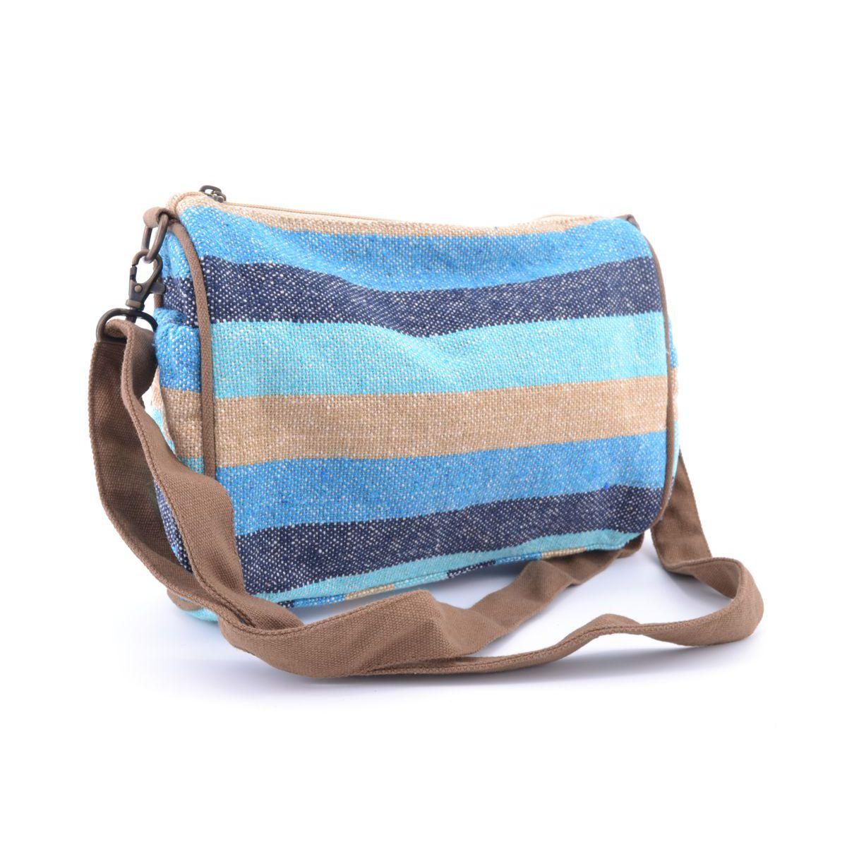 Cotton shoulder bag E19B205 Blue VestoPazzo